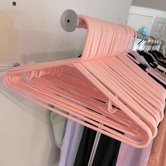Plastic Pink Clothing Hangers